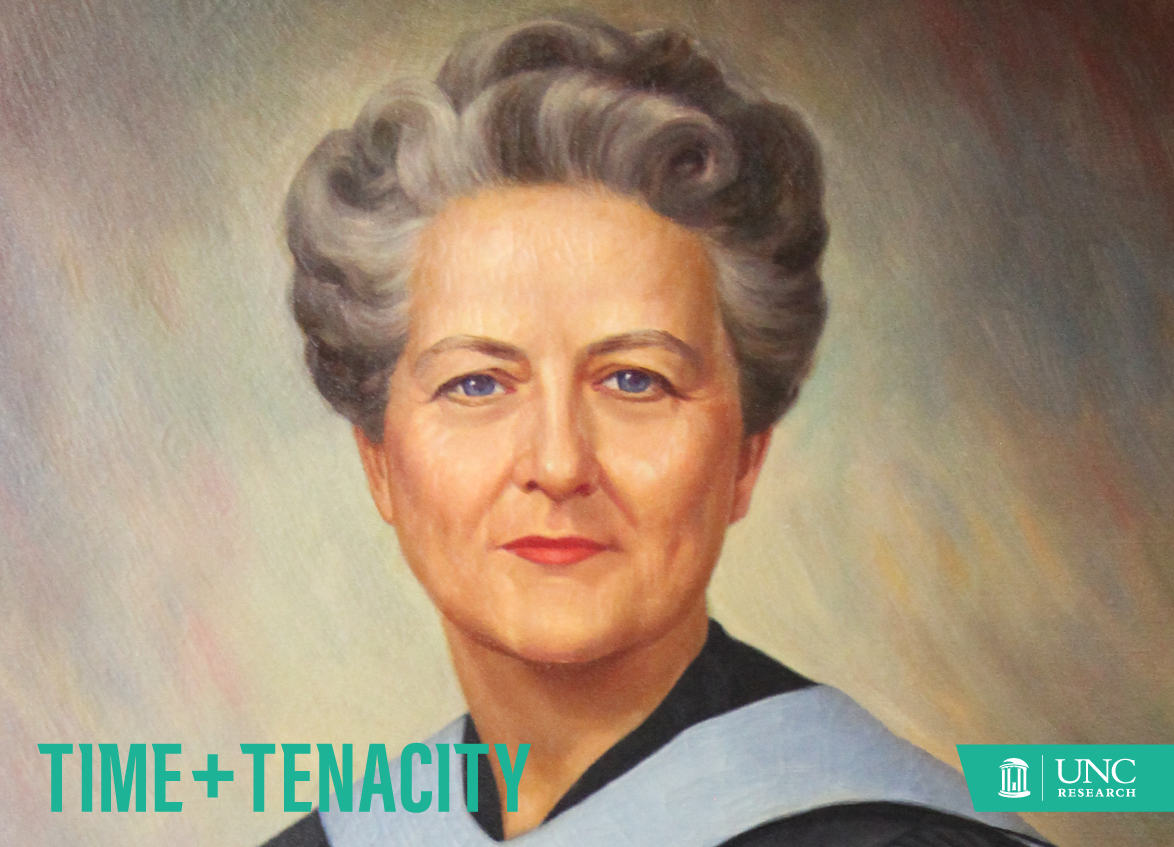 This portrait of Dean Kemble, gifted by the class of 1955, hangs in Carrington Hall in the UNC School of Nursing.