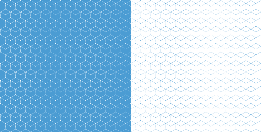UNC Research pattern grid examples of the grid in white on Carolina blue and in Carolina blue on white.