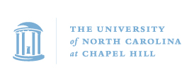 The University of North Carolina's logo in Carolina blue