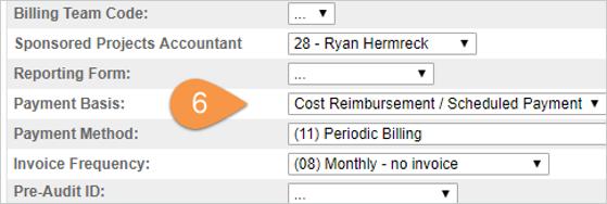 RAMSeS Billing Step 6