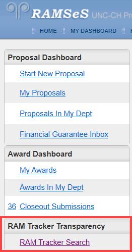 Proposal Dashboard