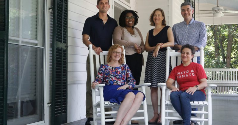 Carolina's keepers of the South (left to right, back row first): Bryan Giemza, Chaitra Powell, Rachel Seidman, Steve Weiss, Elizabeth Engelhardt, and Malinda Maynor Lowery. Photo by Megan May.