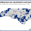 a map of NC showing people who aren't responding to 2020 Census