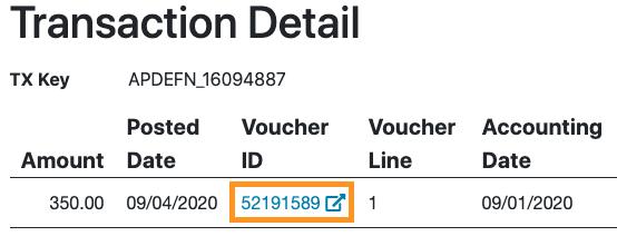 RAM Reports Transaction Detail Direct Link