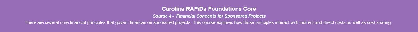 New Carolina RAPiDs Foundation Course