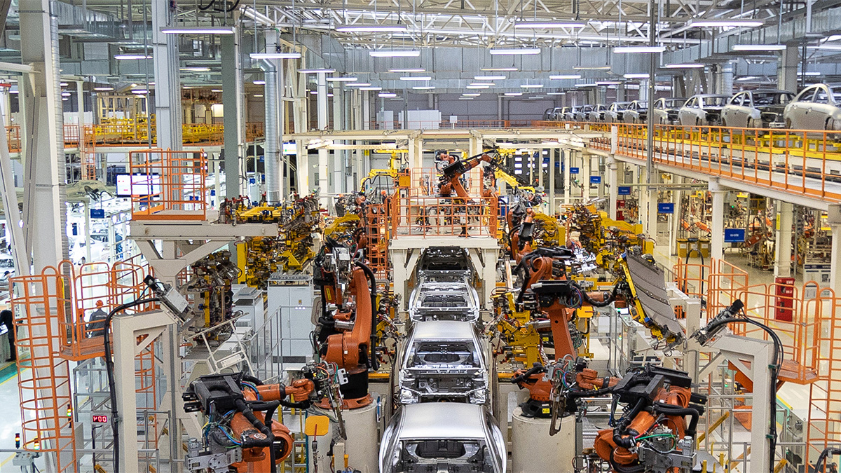 a car manufacturing facility